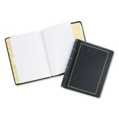 Looseleaf Minute Book, Black Leather-Like Cover, 250 Unruled Pages, 8 1/2 X 11