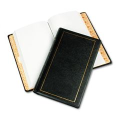 Looseleaf Minute Book, Black Leather-Like Cover, 250 Unruled Pages, 8 1/2 X 14