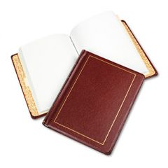 Looseleaf Minute Book, Red Leather-Like Cover, 250 Unruled Pages, 8 1/2 X 11