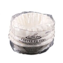 Basket Filters For Drip Coffeemakers, 10 To 12-Cups, White, 200 Filters/pack