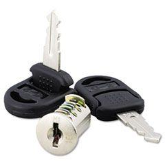 Core Removable Lock And Key Set, Silver, Two Keys/set