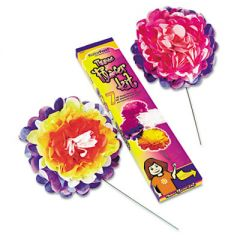 """Tissue Paper Flower Kit, 10"""", 7 Per Kit, Assorted Colors"""