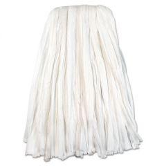 Nonwoven Cut End Edge Mop, Rayon/polyester, 24oz, White, 12/carton