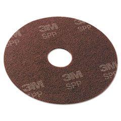 "Surface Preparation Pad, 17"" Diameter, Maroon, 10/carton"
