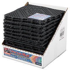VERSA-MAT BAR-SHELF LINER, PLASTIC, 12W X 12D X 0.25H, BLACK, 24/CARTON