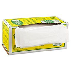 """INDUSTRIAL STRENGTH FLEX-O-BAGS TRASH CAN LINERS, 13 GAL, 1.25 MIL, 24"""" X 30"""", WHITE"""