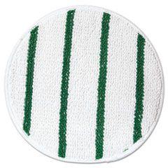 """Low Profile Scrub-Strip Carpet Bonnet, 17"""" Diameter, White/green"""