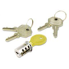 Key-Alike Lock Core Set, Brushed Chrome