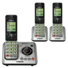 Cs6629-3 Cordless Digital Answering System, Base And 2 Additional Handsets
