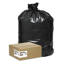 "SUPER VALUE PACK CONTRACTOR BAGS, 42 GAL, 2.5 MIL, 33"" X 48"", BLACK, 50/CARTON"