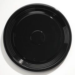 """Caterline Casuals Thermoformed Platters, Pet, Black, 16"""" Diameter"""