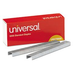 """Standard Chisel Point Staples, 0.25"""" Leg, 0.5"""" Crown, Steel, 5,000/Box, 5 Boxes/Pack, 25,000/Pack"""