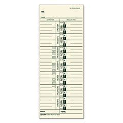 Time Card For Acroprint/ibm/lathem/simplex, Weekly, 3 1/2 X 9, 100/pack