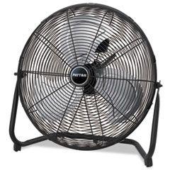 "High Velocity Fan, Three-Speed, Black, 24 1/2""w X 8 5/8""h"