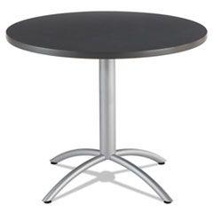 Cafeworks Table, 36 Dia X 30h, Graphite Granite/silver