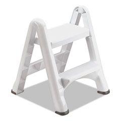 EZ STEP 2-STEP FOLDING STOOL, 19.5 X 20.6 X 22.7, WHITE, 3/CARTON