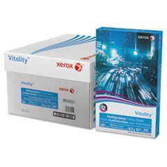 VITALITY MULTIPURPOSE PRINT PAPER, 92 BRIGHT, 20LB, 8.5 X 14, WHITE, 500 SHEETS/REAM, 10 REAMS/CARTON