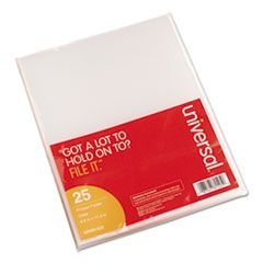PROJECT FOLDERS, LETTER SIZE, CLEAR, 25/PACK
