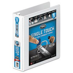 """ULTRA DUTY D-RING VIEW BINDER WITH EXTRA-DURABLE HINGE, 3 RINGS, 2"""" CAPACITY, 11 X 8.5, WHITE"""