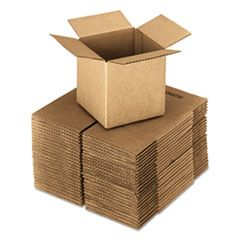 """CUBED FIXED-DEPTH SHIPPING BOXES, REGULAR SLOTTED CONTAINER (RSC), 24"""" X 24"""" X 24"""", BROWN KRAFT, 10/BUNDLE"""
