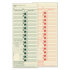 Time Card For Lathem, Bi-Weekly, Two-Sided, 3 1/2 X 9, 500/box