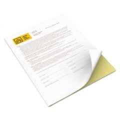 VITALITY MULTIPURPOSE CARBONLESS 2-PART PAPER, 8.5 X 11, CANARY/WHITE, 5, 000/CARTON