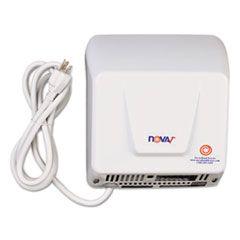 Nova Hand Dryer, 110-120v, Aluminum, White
