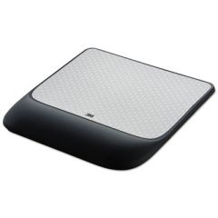 Mouse Pad W/precise Mousing Surface W/gel Wrist Rest, 8 1/2x 9x 3/4, Solid Color
