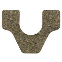 Antimicrobial Floor Mat, Commode, 27 X 25, Brown, 28/carton