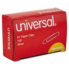 PAPER CLIPS, SMALL (NO. 1), SILVER, 100/BOX
