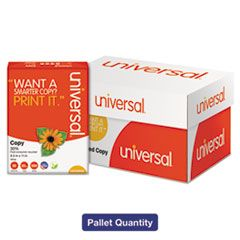 30% RECYCLED COPY PAPER, 92 BRIGHT, 20LB, 8.5 X 11, WHITE, 500 SHEETS/REAM, 10 REAMS/CARTON, 40 CARTONS/PALLET