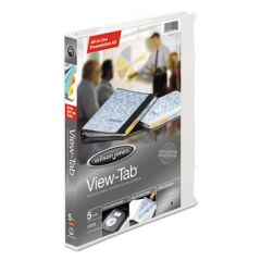 """VIEW-TAB PRESENTATION ROUND RING VIEW BINDER WITH TABS, 3 RINGS, 0.63"""" CAPACITY, 11 X 8.5, WHITE"""