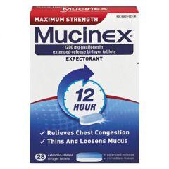 Maximum Strength Expectorant, 28 Tablets/box, 24 Boxes/carton