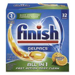 DISH DETERGENT GELPACS, ORANGE SCENT, 32/BOX