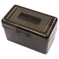 """Plastic Index Card Boxes, 4"""" X 6"""", Translucent Black"""