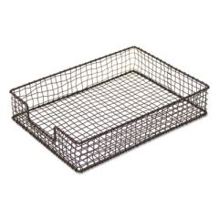 """VINTAGE WIRE MESH LETTER TRAY, 1 SECTION, LETTER SIZE FILES, 10.13"""" X 13.5"""" X 2.5"""", VINTAGE BRONZE"""