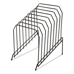 """WIRE TIERED FILE SORTER, 8 SECTIONS, LETTER TO LEGAL SIZE FILES, 8"""" X 10.5"""" X 12.5"""", BLACK"""