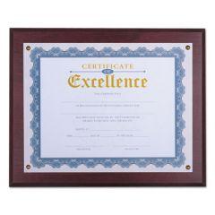 """Award Plaque, 13 1/3"""" X 11"""", Mahogany"""