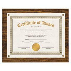 """Award Plaque, 13 1/3"""" X 11"""", Walnut"""