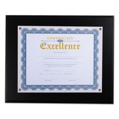 "Award Plaque, 13 1/3"" X 11"", Black"
