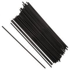 "SIP STRAWS, 7.5"", BLACK, 10000/CARTON"