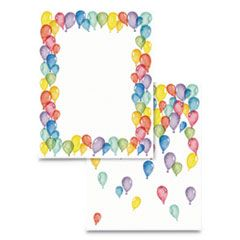 PRE-PRINTED PAPER, 28 LB, 8.5 X 11, BALLOONS, 100/PACK