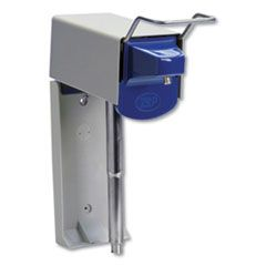 """HEAVY DUTY HAND CARE WALL MOUNT SYSTEM, 1 GAL, 5"""" X 4"""" X 14"""", SILVER/BLUE"""
