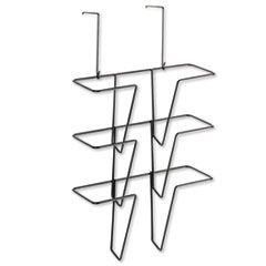 Wire Partition Additions Three-Pocket Organizer, 12 5/8 X 23 1/4, Black