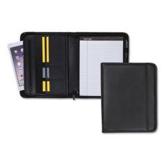 Professional Zippered Pad Holder, Pockets/slots, Writing Pad, Black