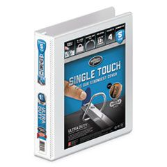 """ULTRA DUTY D-RING VIEW BINDER WITH EXTRA-DURABLE HINGE, 3 RINGS, 1.5"""" CAPACITY, 11 X 8.5, WHITE"""