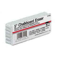 "5-INCH CHALKBOARD ERASER, 5"" X 2"" X 1"""