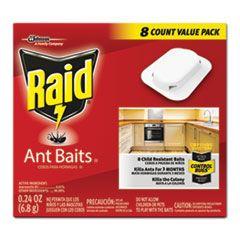 ANT BAITS, 0.24 OZ, 8/BOX, 12 BOXES/CARTON