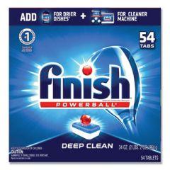 Powerball Dishwasher Tabs, Fresh Scent, 54 Tabs/box, 4 Boxes/carton