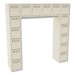 Sixteen Box Compartments & Coat Bar, 72w X 18d X 72h, Sand
